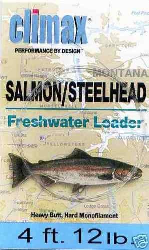 Climax 4 ft 12 Lb Salmon/Steelhead Fly Fishing Leader