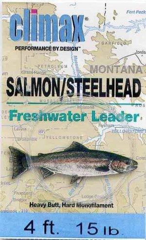 Climax 4 ft 15 Lb Salmon/Steelhead Fly Fishing Leader