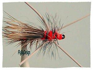 Golden Rubber Leg Stimulator  Dry Flies Twelve size 16