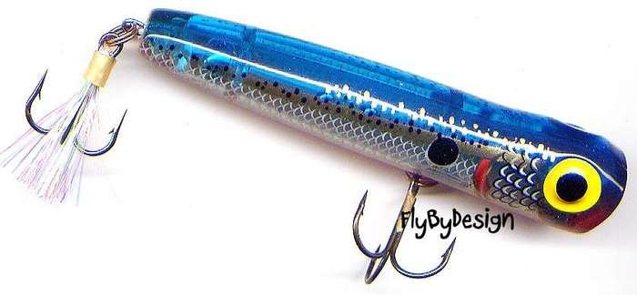 "Storm 3"" Phantom Blue Chug Bug Floating Hard Bait Lure"