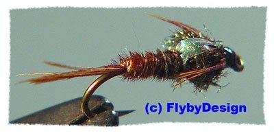 Pheasant Tail Flashback Nymphs 12 #16 Fly Fishing Flies