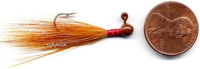 Weldon Steelheader Brown Mini Foo Jigs - 2 jigs per pak
