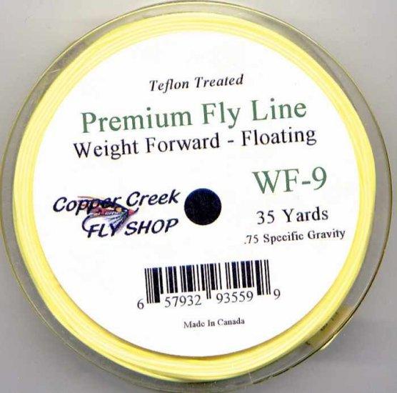 Copper Creek Lemon Yellow Teflon WF9 Floating Fly Line