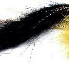 Black & Yellow Pikie Fly - Six # 4/0 Pike Fishing Flies