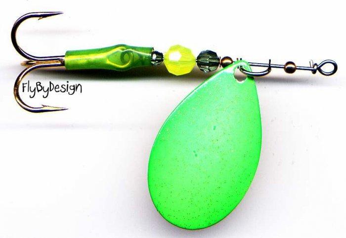 Luhr-Jensen Green ClearWater Flash 1/4 oz Spinner
