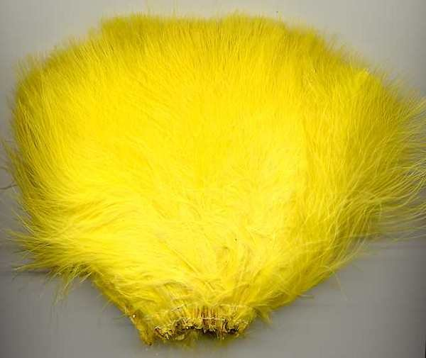 Premium Dyed 1 Ounce Yellow Strung Marabou Feathers