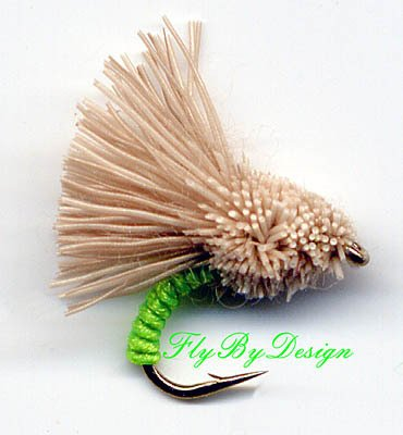 Chartreuse Serendipity Fishing Flies - Twelve Size 20