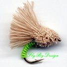 Chartreuse Serendipity Fishing Flies - Twelve Size 20