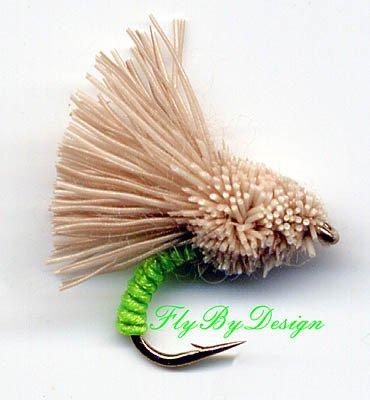 Chartreuse Serendipity Fishing Flies - Twelve Size 14