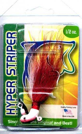 Original Deadly 1/2 Ounce Red Shad Hyper Striper Jig