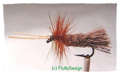 Goddard Caddis Dry Fly Fishing Flies - Twelve Size 16