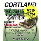 Cortland 8' Tapered Leader + 20# Tie-able Steel Tippet
