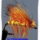Yellow Elk Hair Caddis Dry Fly - Twelve Size 16 Flies