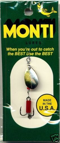 Monti 1/8 oz.- Silver & Gold Trout Spinner Fishing Lure
