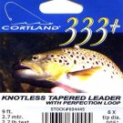 Cortland 9'-6x (2.7 Lb test) 333+ Tapered Leader w/Loop