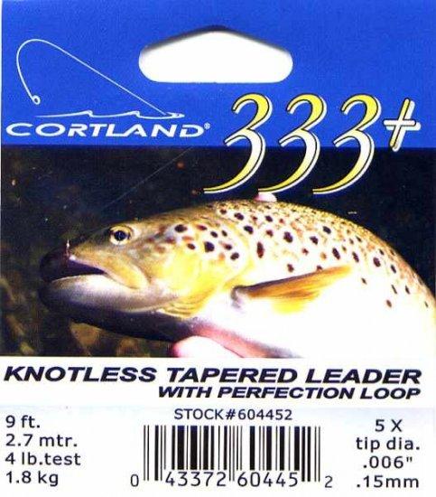 Cortland 9' - 5x (4 Lb test) 333+ Tapered Leader w/Loop