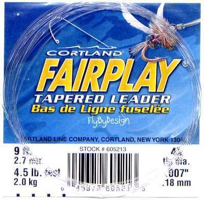 Cortland Fairplay 4x (4.5 Lb test) 9' Tapered Leader