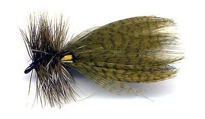 Hornberg Olive Dry Fishing Flies - Twelve Hook Size 8