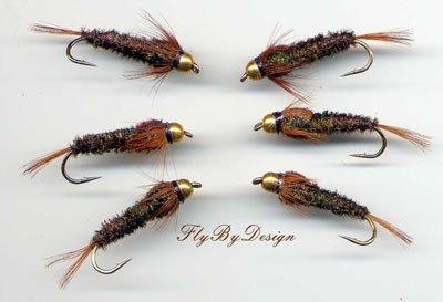Bead Head Halfback Nymph - Twelve Size 12 Fishing Flies