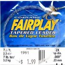 Cortland Fairplay 2x (7 Lb test) 7.5' Tapered Leader