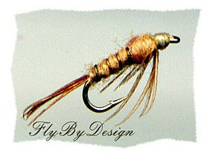PMD Flashback Sparkle Nymphs - One Dozen Hook Size 18