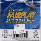 Cortland Fairplay 5x (3.5 Lb test) 7.5' Tapered Leader