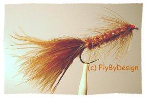 Brown Woolly Bugger - Twelve Size 10 Fly Fishing Flies