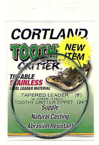 Cortland 8' Tapered Leader + 50# Tie-able Steel Tippet