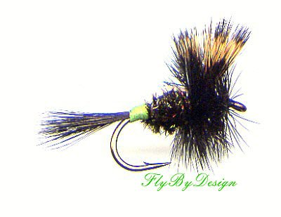 Hot Spot HUMPY Fishing Flies Twelve Size 14 Dry Fly