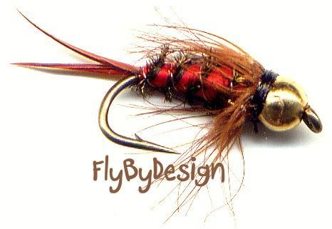Bloody Mari Fly Fishing Flies - Twelve Hook Size 14