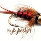 Bloody Mari Fly Fishing Flies - Twelve Hook Size 14