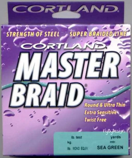 Cortland Premium Master Braid - Sea Green 15 LB 300 YDS