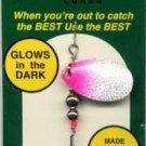 Monti GLOW Pink & Silver Spinner Fishing Lure Bait