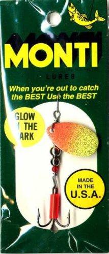 Monti GLOW Orange & Chartreuse Spinner Fishing Lure