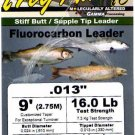 "Frog Hair .013"" (16 Lb)  9' Fluorocarbon Tapered Leader"
