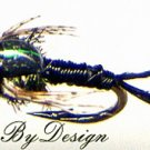 Black Copper John Nymphs Twelve Fishing Flies - Size 16