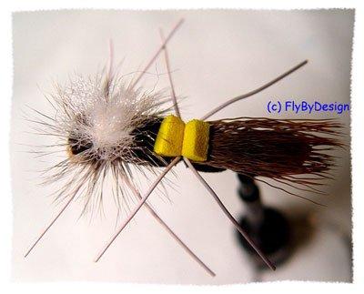 Chernobyl Ant (Hopper) Twelve Size 6 Fly Fishing Flies