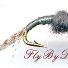 WD40 Gray Nymph - Twelve Hook Size 20 Fly Fishing Flies