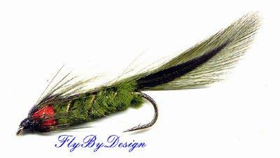 Olive Matuka Streamer Fly Fishing Flies - Twelve Size 8