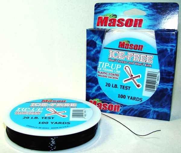 Mason 20 lb 100 yds ice free coated braid fishing line for 20 lb fishing line