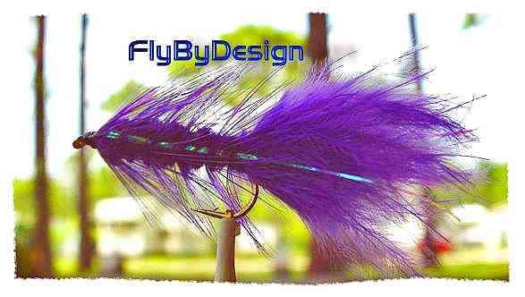 Purple Woolly Bugger Fishing Flies - Twelve Hook Size 6