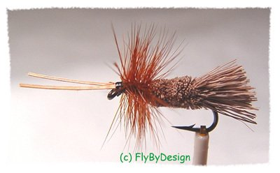 Goddard Caddis Dry Fly Fishing Flies - Twelve Size 18