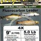Frog Hair 4x (5 Lb test) 9' Fluorocarbon Tapered Leader