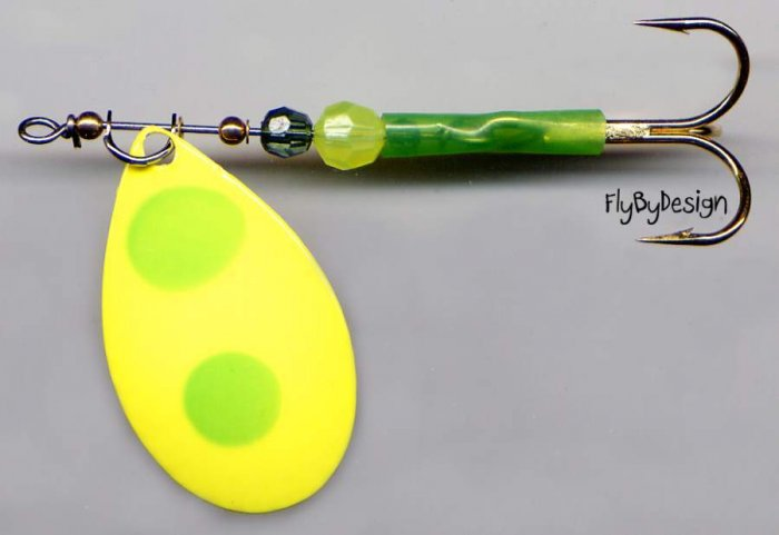 "Luhr-Jensen Bad Banana ClearWater Flash 3.25"" Spinner"