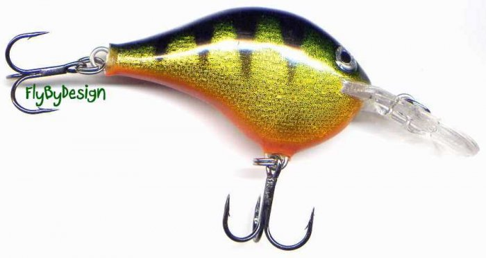 "Rapala 2"" Rattling Balsa Perch Dives to 6 Feet"