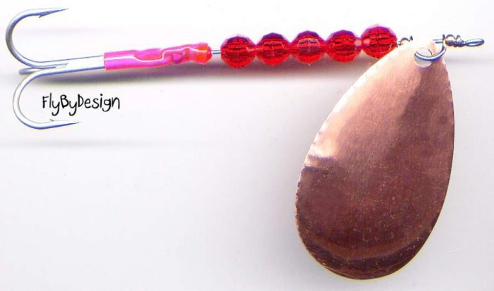 "Luhr-Jensen Copper ClearWater Flash 4.5"" Salmon Spinner"