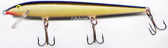 "Rapala F-13 Gold Original Floating 5-1/4"" Lure"