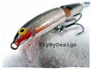 Rapala Jointed Floating Silver/Black J-11S Lure