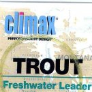 Climax 7-1/2 Ft 3x Freshwater Trout Fly Fishing Leader