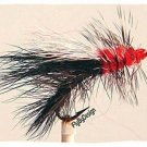 Black Stimulator Fly Fishing Flies - Twelve Size 14